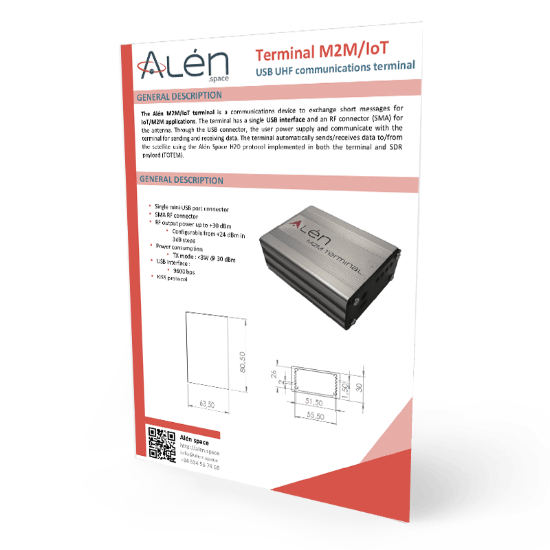 Alén Space Terminal M2M/IoT