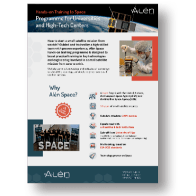 Brochure of Hands-on Training Programme to Space