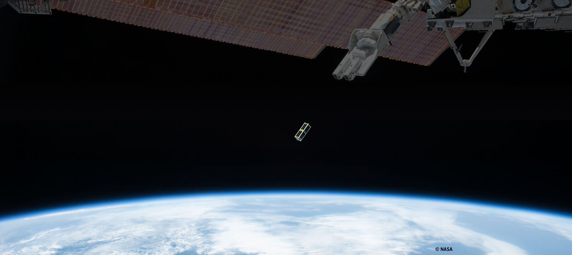 Launch of SERPENS nanosatellite from the International Space Station (ISS) - edited