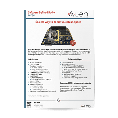 Alén Space Totem Sofware Defined Radio (SDR)